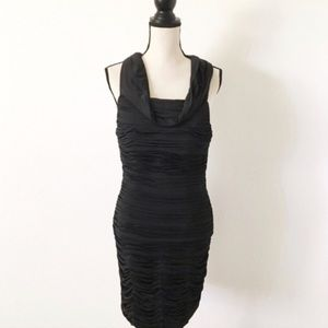 Sherri Hill Black Bodycon Midi Dress